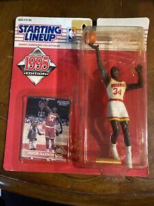 Starting Lineup Hakeem Olajuwon Houston Rockets 1995 Kenner Figure New NM Rare