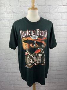 Vintage Bike Week 2000 Millennium T-Shirt Black Daytona Beach Size XL Eagle