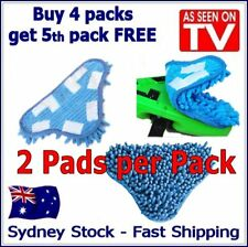 2 PACK - Aftermarket H20 H2O StickOn CORAL BLUE Steam Cleaning Mop X5 Pads