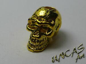 exklusiver Skull goldfarben Metall Beads Paracord Keychains Lanyards Bartperle