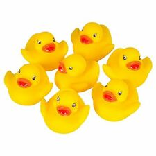 12 Small Yellow Rubber Duck Duckys Baby Shower Party Bag Favor Bath Toy Supply