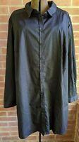 Roaman's Long Sleeve Blouse Black Button Down NWOT Sz 28 W Plus