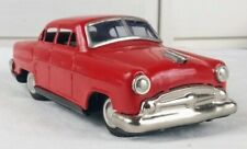 Vintage Nikko Battery Operated 1950's Ford sedan toy tin car made in Japan