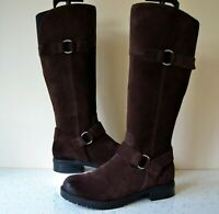 "CLARK`S ""FARALYN DAWN"" DARK BROWN SUEDE LEATHER KNEE HIGH BOOTS UK 5D RP £125.00"