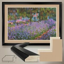 """44W""""x32H"""": ARTISTS GARDEN AT GIVERNY by CLAUDE MONET DOUBLE MATTE, GLASS & FRAME"""