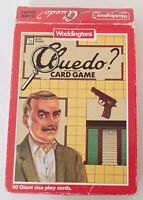 Vintage 1990 Waddingtons Cluedo Card Game Complete OR Spare Cards Choose Travel