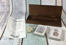 Vintage Poker Playing Cards and Dice in Wooden Box. Brand new in box.