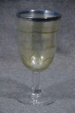 Glaspokal, Eisch, bez. Eisch 82, Farbfaden-Glaseinschmelzungen