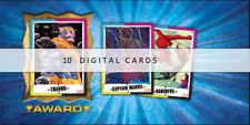 Topps Marvel Collect CMYK Weekly Series 8  DAREDEVIL + CAPTAIN MARVEL 10 Cards
