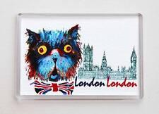 London Souvenir Funny Cat & Big Ben Fridge or Office Magnet