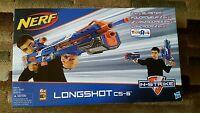 NERF Longshot CS-6 Blaster N-Strike Blue w/ Scope Brand New Sealed! RARE!