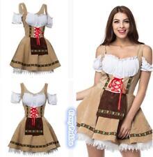German Oktoberfest Bavarian Heidi Dirndl Leiderhosen Beer Maid Wench Costume