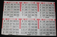 BINGO PAPER Cards 6 on 1 H Red Border 50 sheets  no duplicates FREE SHIPPING