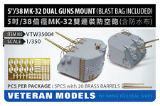 "Veteran Models 1/350 5""/38 Mk.32 Dual Guns Mount (Blast Bag Included) 5pcs"