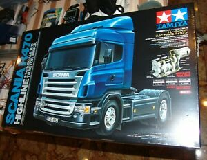 TAMIYA 1/14 SCANIA R470 HIGHLINE SEMI TRACTOR TRUCK KIT RC ITEM #56318 UNPAINTED