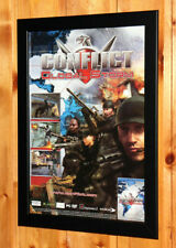 Conflict Global Terror Storm Rare Small Poster / Old Ad Page Framed PS2 Xbox