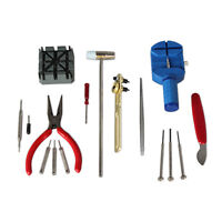 16 PCS Watch Repair Tools Kit Wrist Spring Pin Strap Link Back Opener Remover US