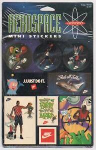 1993 Nike Michael Jordan Aerospace Mini Stickers Sealed 2 Sheet Set Hang Pack