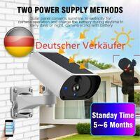 1080P Außenkamera Überwachungskamera Kabellos IP Solar WiFi WLAN mit 2x Batterie