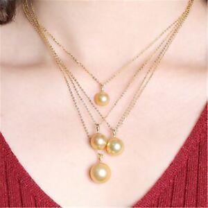 16mm Shell Pearl Pendant Gold Elegant Pendant Jewelry Mesmerizing Classic Luxury