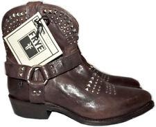 Frye Women's Billy Biker Studded Leather Short Harness Ankle Boots Booties 7.5