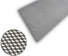 1x Black Aluminium Grille Grill Mesh Net Vent Bumper 9x5mm 100x40cm