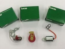 Lucas Distributor points, Condenser and Red Rotor Arm Set 25D4