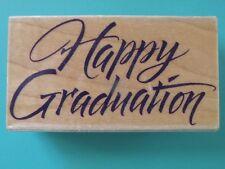 Happy Graduation Greeting Phrase in Pretty Font HERO ARTS Rubber Stamp