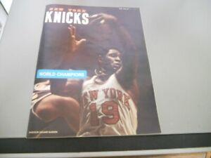 1973-74 New York Knicks vs Milwaukee Bucks Basketball Program-World Champions