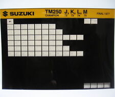 Suzuki TM250 Champion 1972 - 1975 Parts Microfiche s245