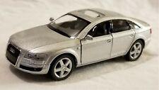Kinsmart - 1:38 Scale Model Audi A6 Silver (BBKT5303DS)