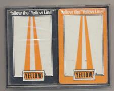 Vintage Follow The Yellow Line Yellow Trucking YRC  Playing Cards 2 Decks Sealed