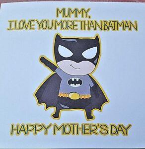 Mothers Day Card - Batman