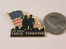 The Other Twin Towers 911 Police Officer & Fireman Pin