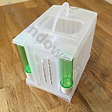 PLASTIC CARRY/TRANSPORT BOX , FINCHES, CANARY, BUDGIE SMALL BIRDS CARRY CAGE