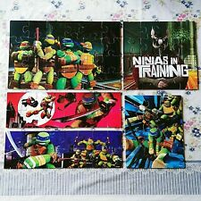 Teenage Mutant Ninja Turtles Puzzles Lot Of 5 Complete