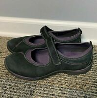 ECCO Women's Shoes Size EU 38 US 7 7.5 Suede Mary Jane Black Purple Comfort