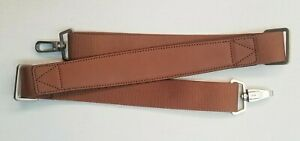 Hartmann Luggage Replacement Shoulder Strap Leather w/ Nylon Golden Oak