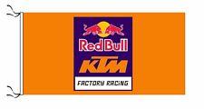 Red Bull Ktm drapeau orange-Taille 150x75cm (5x2.5 FT) - NEUF