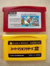 Gameboy Advance Famicom Mini Super Mario Bros. 1 & 2 Set GB GBA Game Boy Japan