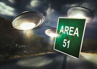 Cool Area 51 Nevada UFO Poster Size A4 / A3 Galaxy Spacecraft Poster Gift #8299