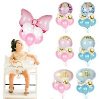 6X/Set Foil Latex Balloon Confetti Bow Kids Baby Shower 1st Birthday Party Decor