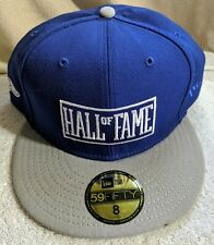 HALL OF FAME Fame Block Fitted Hat Royal 2ND Sucks size 8