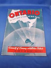 ONTARIO THE CROSS ROADS OF CANADA AND NORTH AMERICA BOOK HISTORY INFO 1949