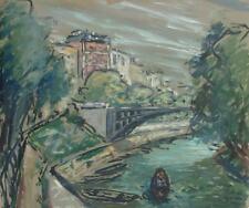 René GRAS (1906-2011) HsP Quai de Seine Années 50 Expressionnisme Ecole de Paris