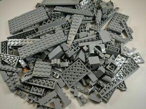 Lego 200 PCS Gray Bricks Plates Parts Bulk Lot RANDOM PIECES per order
