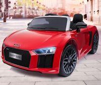 Audi R8 Spyder Kinder Elektroauto Kinder Auto Akku Kinderfahrzeug 12V rot NEU
