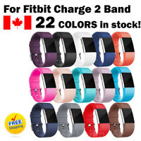 For Fitbit Charge 2 Band Replacement Wrist Strap Silicone Smart Watch Band S & L