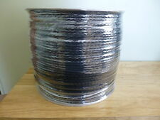 1/4 inch Hollow braid polypropylene rop .2850 ft.spool. Black. Made in the USA