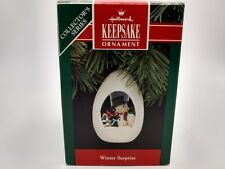 "Hallmark Keepsake ""Winter Surprise"" 1989 Penguin Ornament NIB Free Shipping"